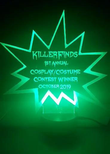 Acrylic contest trophies