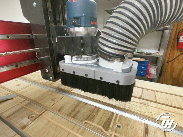 CNC Dust Boot w/ Variable Brush Height